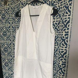 White everlane shift dress